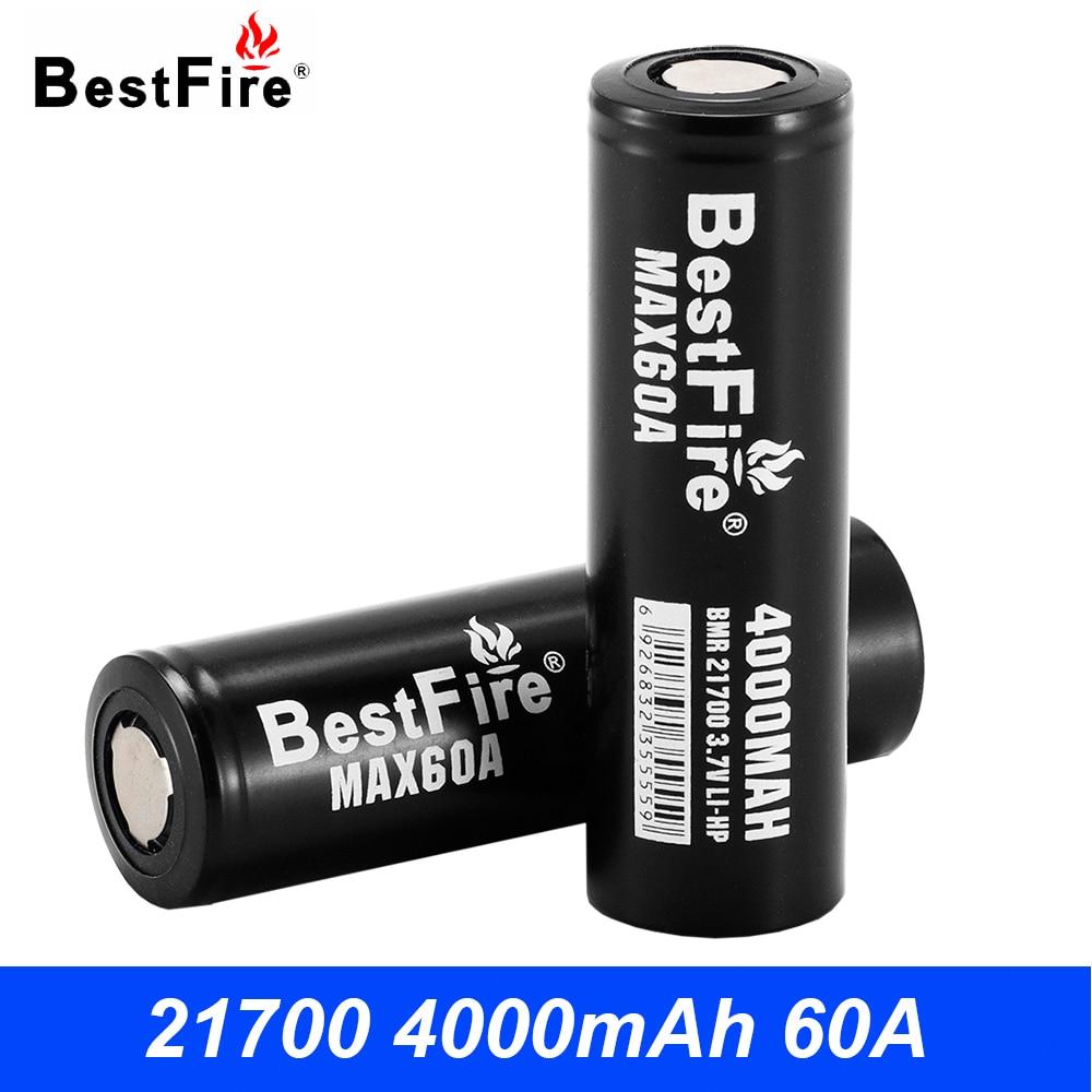 21700 Batterie E Cigarette Vaporisateur Mod BestFire Rechargeable Batterie 4000 mah 60A pour iStick Pico 21700 pour IJOY CAPO 100 mod B138