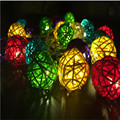 Fairy 12 led 4CM  Rattan Balls  led  Battery String Patio Wedding Lights Decoration for Party Holiday Use With Battery box