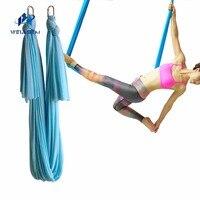 Special Yoga Aerial Flying Anti Gravity Yoga Hammock Trainer 5 Meter 1 Pair Carabiner Freeshiping
