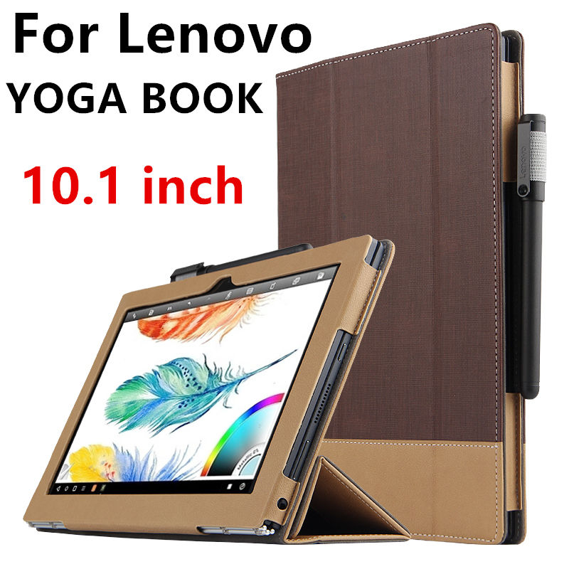 Case For Lenovo YOGA BOOK Protective Smart cover Faux Leather Tablet PC For yoga book 10.1 inch PU Protector Sleeve Case Covers for lenovo yoga book leather cases in one tablet package 10 1 inch sleeve high quality classic pu leather book case cover stylus