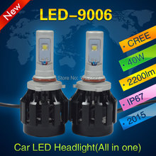 1Pair Car Truck 9006 40W 4 SMD LED 2200LM White 6000K 12V Aluminum Replacement Daytime Running Lights Fog Headlight Lamps