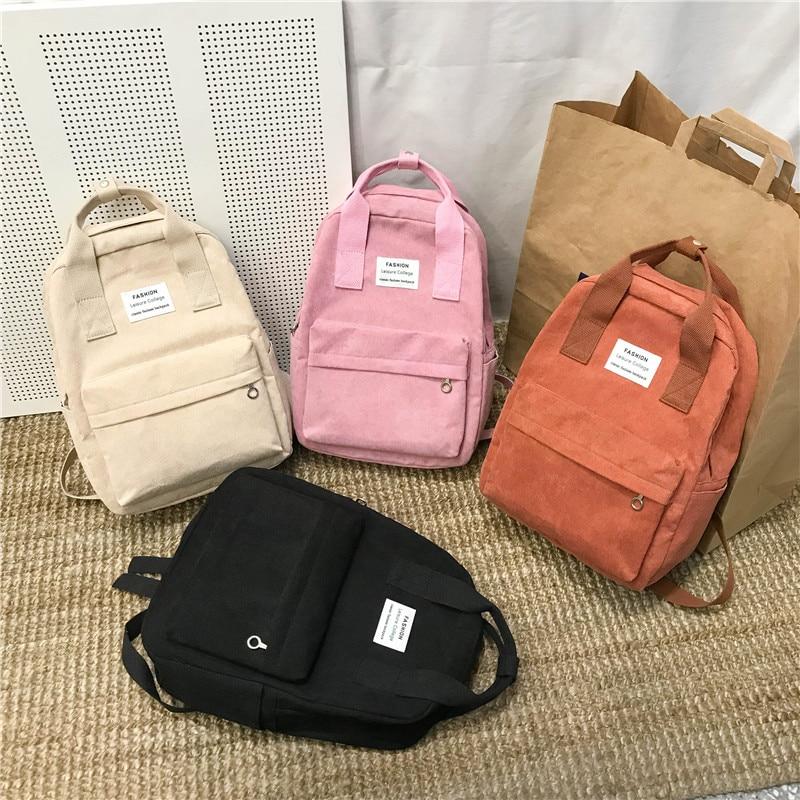 Nueva tendencia mochila femenina mochila de moda para mujer mochila de colegio Harajuku bolsos de hombro de viaje para chicas adolescentes 2019