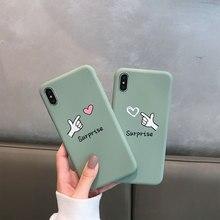 Plain Soft TPU Phone Case For iPhone 8 Plus 7 Plus X XR XS Xs Max Cases Couples Love Cover For iPhone 6S Plus 6 Plus Cute Cases цена и фото