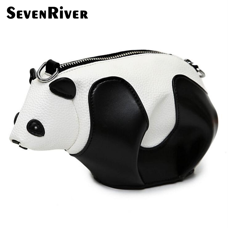 Fashion Designer Cute Panda Bag Mini Cartoon Animal Shoulder Bag Ladies Messenger Bag Purse Wallet Clutch Bag For Teens Grils