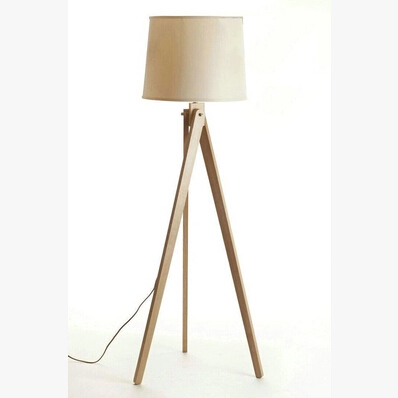 nordic ikea creative modern japanese thai rubber wood wood floor lamp tripod floor lamp trigeminal - Ikea Floor Lamp