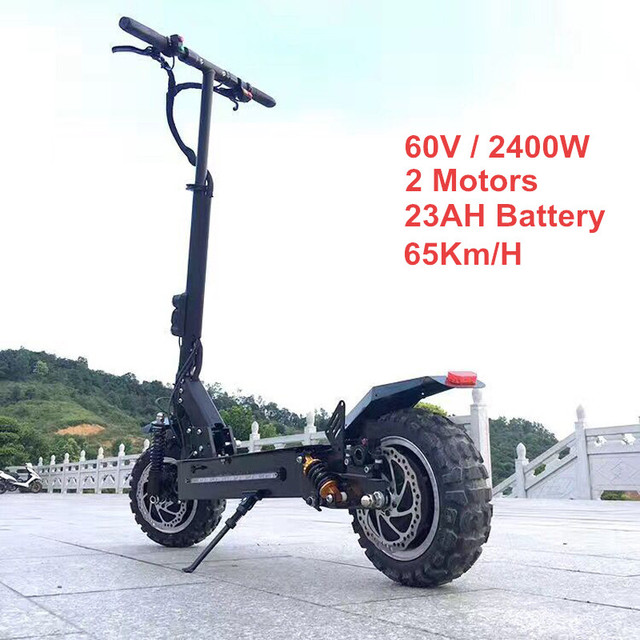 FLJ 11inch Off Road Electric Scooter 60V 2400W 65Km/h Strong powerful new Foldable Electric Bicycle fold hoverboad bike scooters