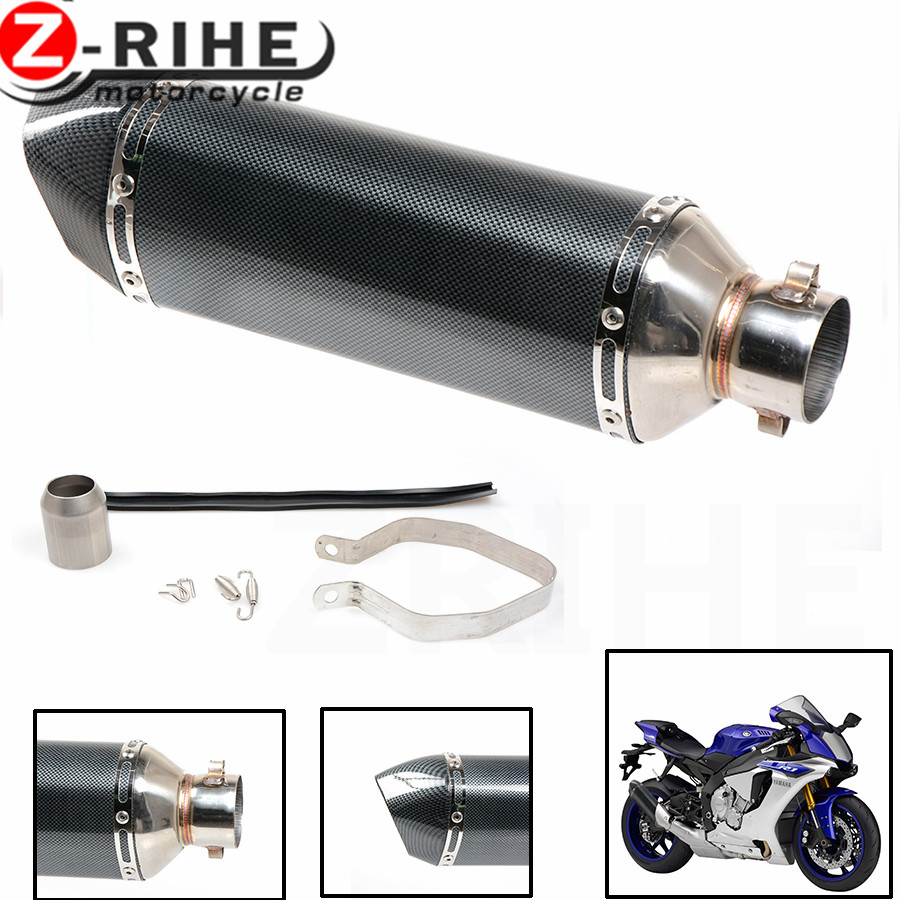 for 36~51mm Universal Motorcycle Exhaust Muffler Escape Slip-On Pipe Fit Many Motorbike Scooter Dirt Bike for ktm bmw honda
