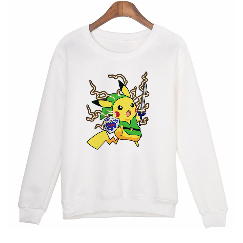 Japanese Anime Sweatshirt Women 2016 Winter Clothes Womens Pikachu Sweatshirts Hoodies Print Tracksuit Hoodie Long Sleeve