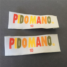 Factory Price Custom private brand woven labels tags with sizes on
