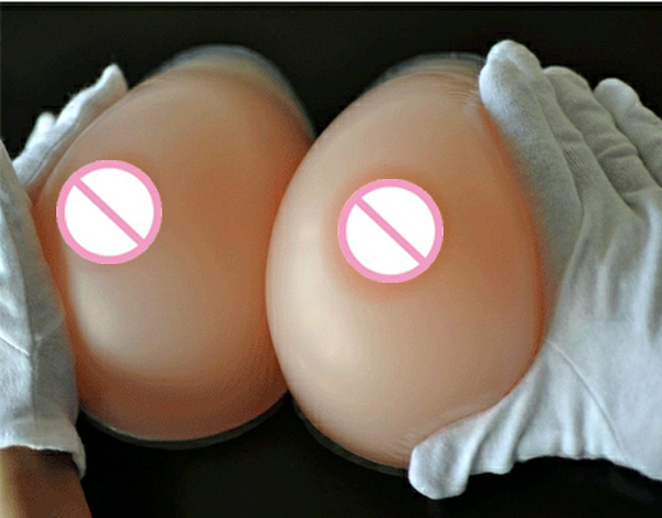 ФОТО 800g/pair C cup Round Skin Silicone Breast forms Mastectomy Artificial fake boobs faux seins swimsuit Pad forma de silicone