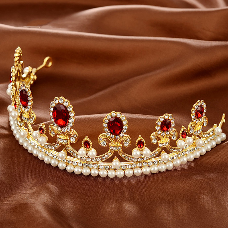 New-Sale-Europe-Style-High-quality-Red-Opal-Women-Elegant-Luxurious-Wedding-Bridal-Crown-Headwear-Wedding (3)