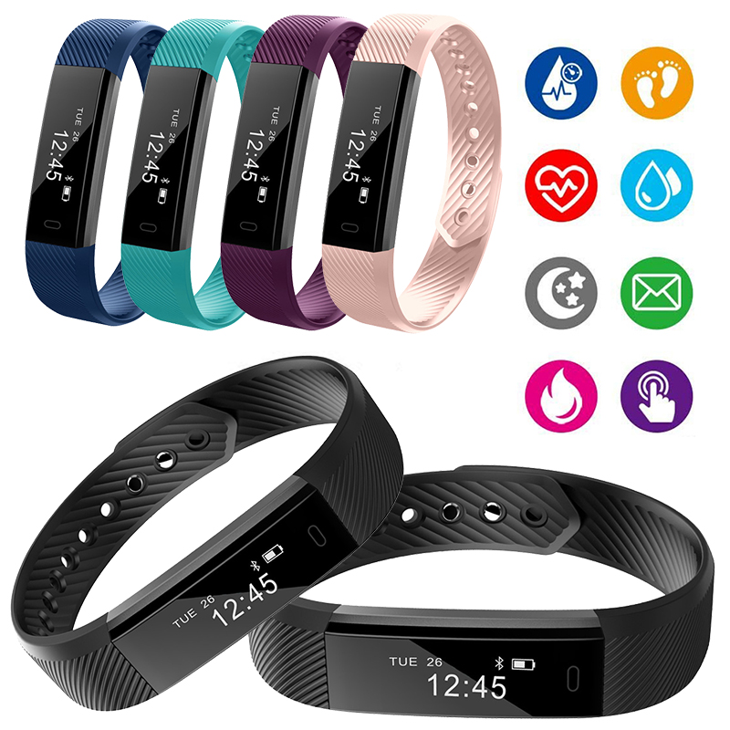 2019 Fitness Tracker Bracelet Gym Step Counter Heart Rate Monitor Health Wrist Watch Waterproof Pedometer For Android IOS