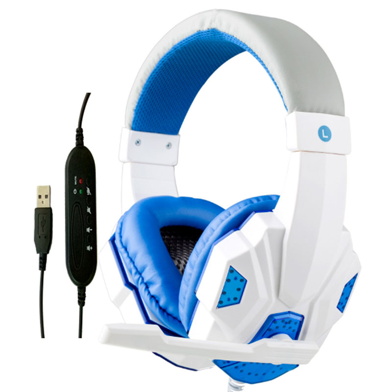 Dynamic USB Computer Headset Bass Gaming Headphones for Ps4 Head Games Online Control Earphone with Mic HYC830MV