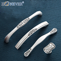 5pcs Silver White Door Handles Engraving Drawer Pulls Kitchen Cabinet Handles and Knobs Furniture Handles