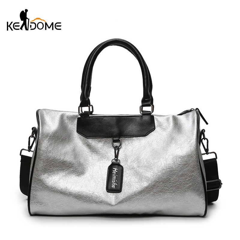 Hot Sale Silver Sports Bag Lady Luggage Bag In Travel Bags With Tag