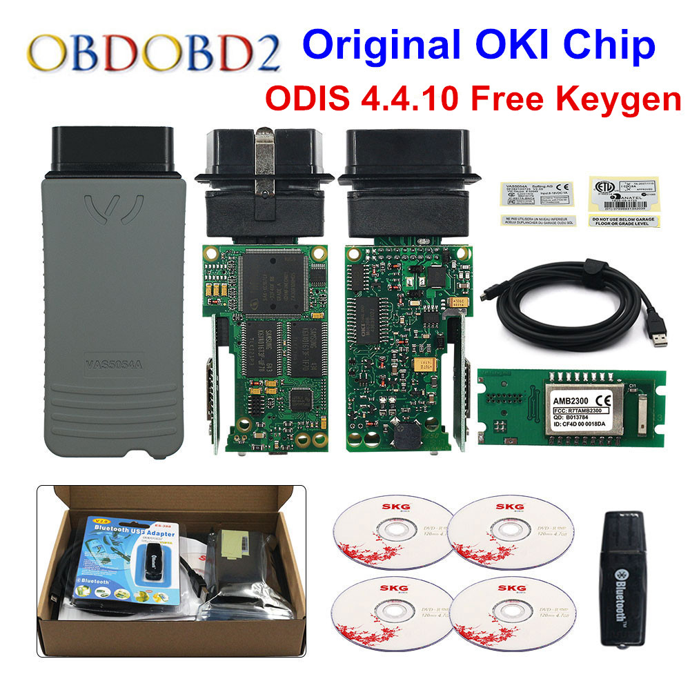 Original VAS5054 OKI Keygen VAS5054A Bluetooth AMB2300 ODIS V4.4.10 For VW/AUDI/SKODA/SEAT VAS 5054A VAS6154 WIFI UDS For VAG newest vas5054a with oki keygen full chip vas5054 bluetooth odis 4 3 3