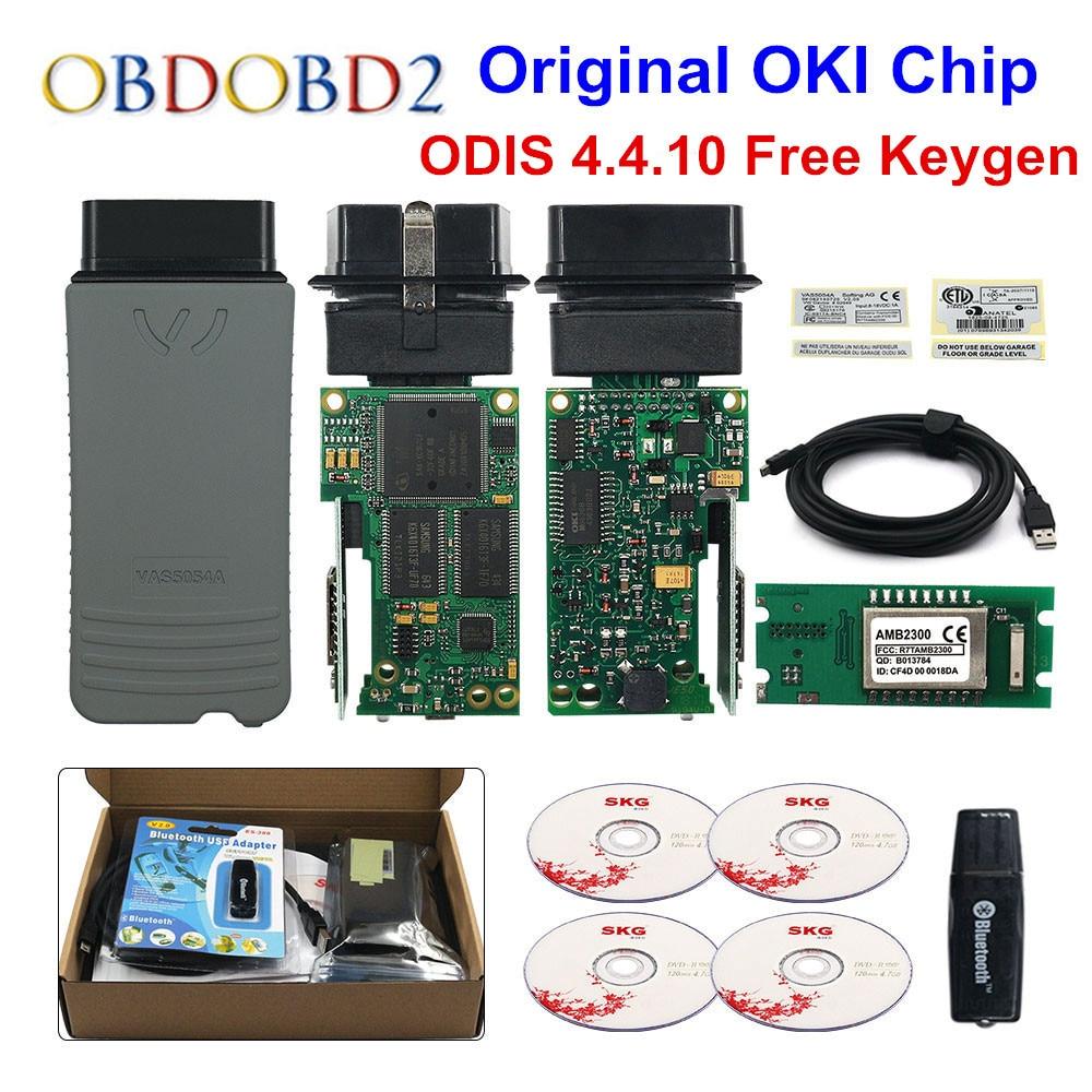 Original VAS5054 OKI Keygen VAS5054A Bluetooth AMB2300 ODIS V4.4.10 para VW/AUDI/SKODA/asiento VAS 5054A VAS6154 WIFI UDS para VAG