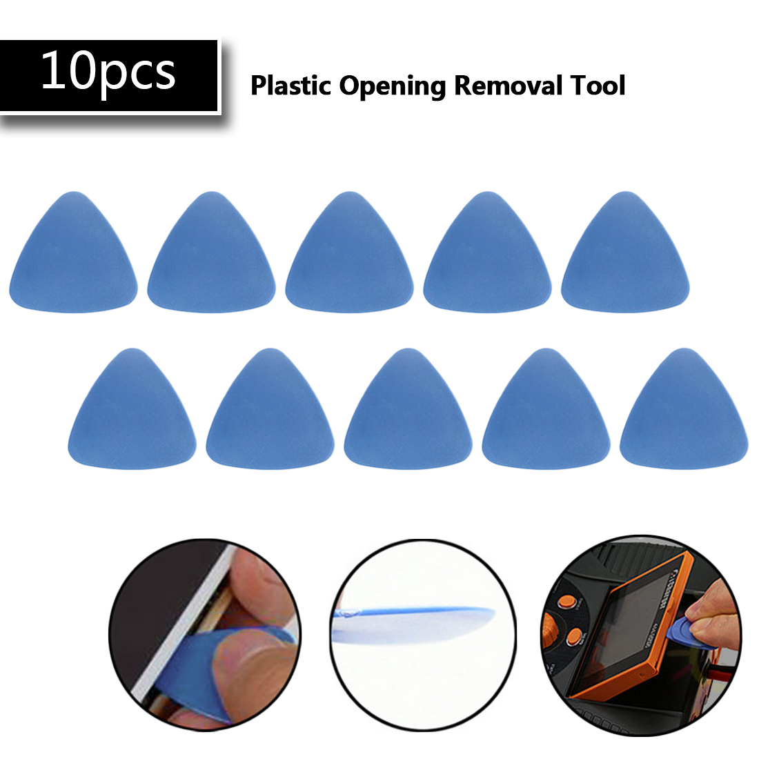 Opening Pry Disassemble Tool 10pcs Thin Triangle Repair Tools Kit For IPhone Tablet PC Laptop Repair /Guitar Pick DIY Hand Tools