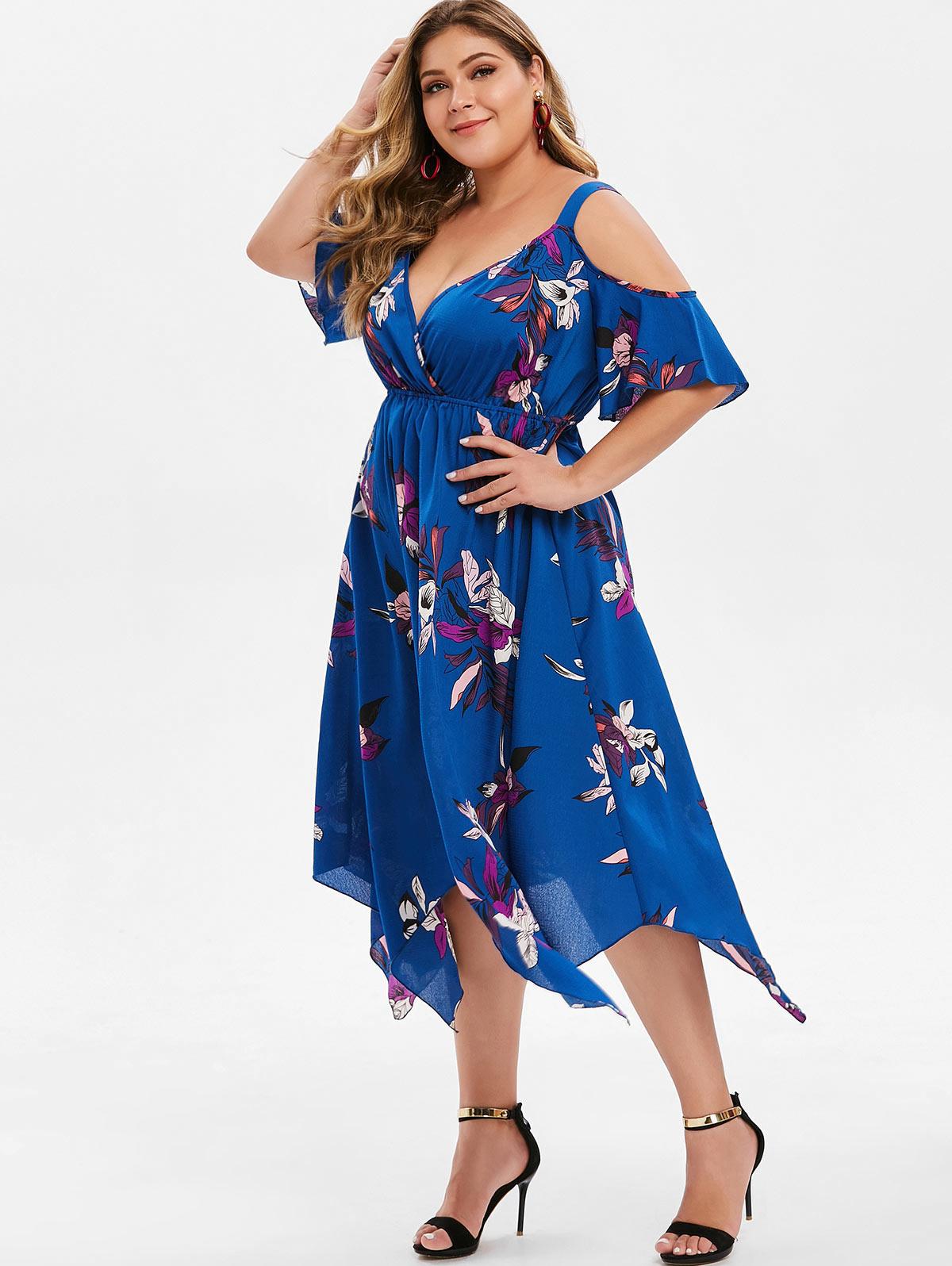 a2ff40c07b6bf Wipalo 2017 Summer Plus Size 5XL Two Tone Handkerchief Slip Dress ...