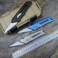 9TiEDC Original Paper pocket knife Titanium Handle Tirek stainless steel blade Pruning outdoor camping hunt knives EDC tools
