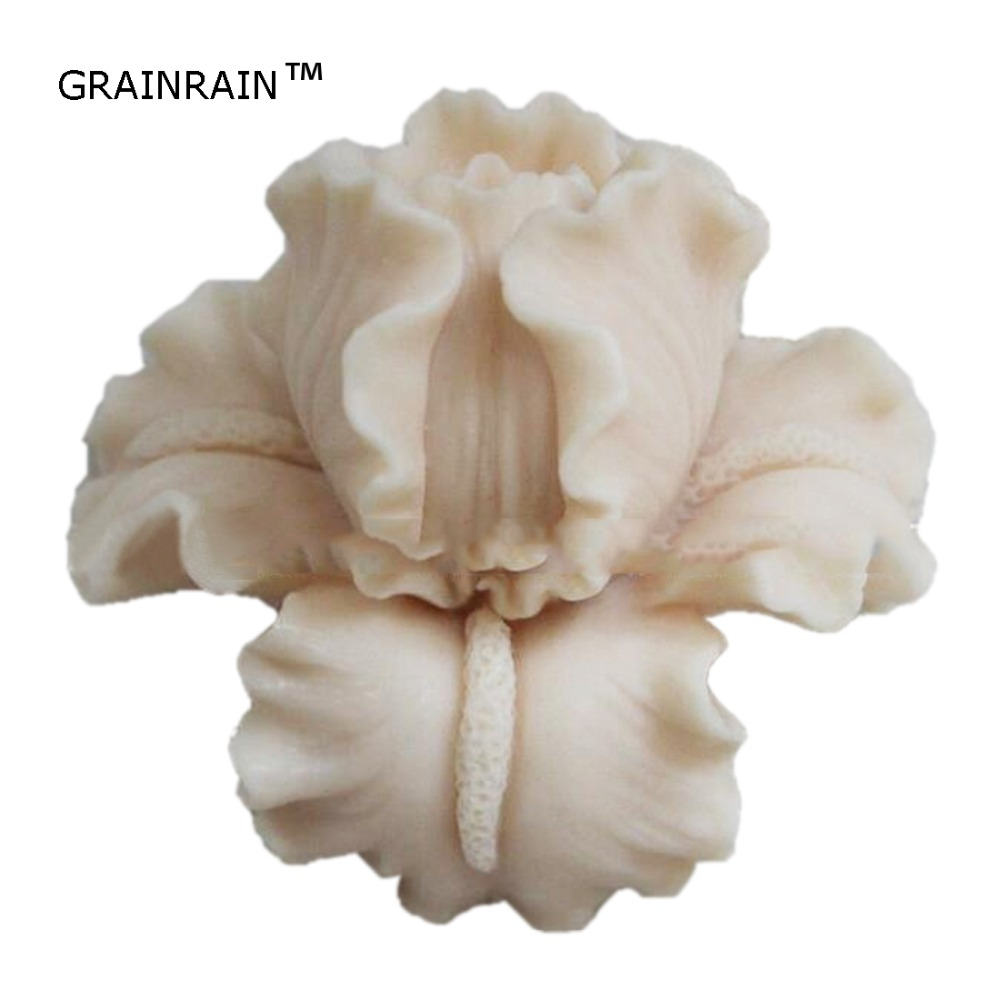 Grainrain Soap Molds Silicone Soap Making Molds Craft Molds Resin Mold 3D Flowers