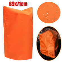Autoleader 450D 71x89cm Waterproof Orange Outboard Boat Engine Cover Motor Prop Propeller Cover Drawstring with Drain Hole