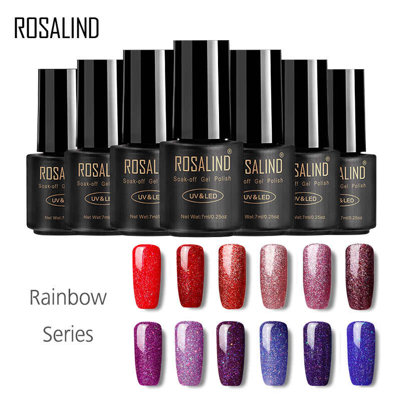 ROSALIND Gel Varnish 7ML Rainbow Color Gel Polish Voor Nail Art Design Semi Permanente UV LED Nail Primer Gel van Nagels Manicure