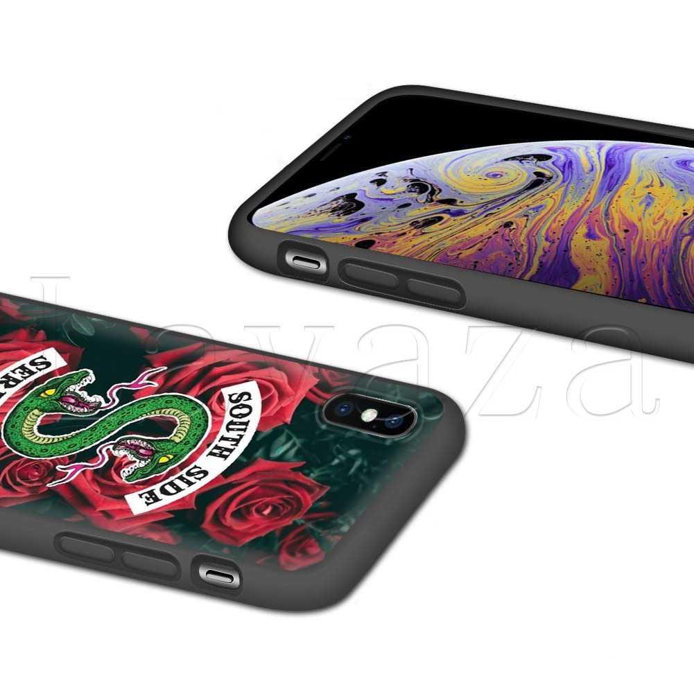 Lavaza TRUYỀN HÌNH Mỹ Riverdale Silicone Mềm dành cho iPhone 11 Pro XS Max XR X 8 7 6 6S plus 5 5S SE