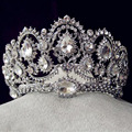 New Hair Jewelry Bridal Crown Large Tiaras and Crown Married Handmade for Brides Wedding Accessories Tiaras Big