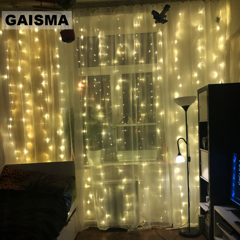 3M X 1/2/3/4/5M LED Christmas Curtain Lights Garland Wedding Decorations Fairy Lights Party New Year Holiday Lighting Outdoor