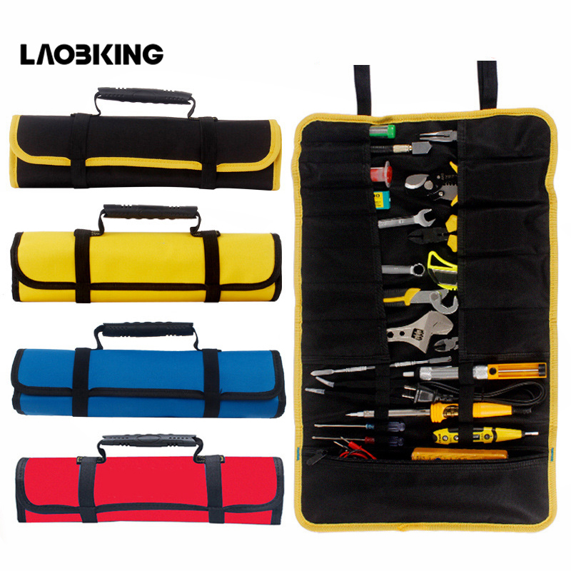 Multifunction Oxford Cloth Folding Wrench Bag Tool Roll Storage Pocket Tools Pouch Portable Case Organizer Holder 3 Colors