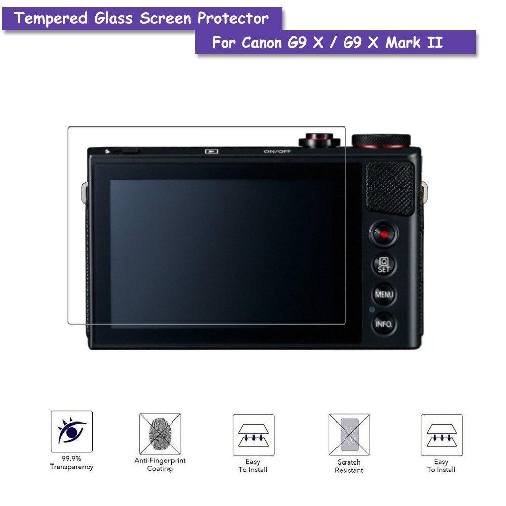 9 H Verre Trempé Protecteur D'écran LCD Verre Véritable Bouclier Film Pour Canon Powershot G9X G9 X Mark II Caméra accessoires