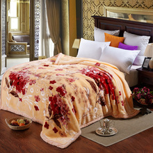 Pacific Textile blanket per square 4.5kg raschel blanket fabric blanket on the bed