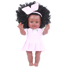 35CM doll reborn Vinyl Silicone baby adorable Lifelike toddler Bonecas girl kid menina de Gifts Toys