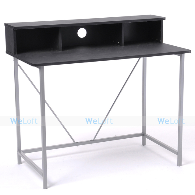 Us Stock Black Simple Home Office Study Working Laptop Computer Desk Table Desks Diy Pc Free Shipping