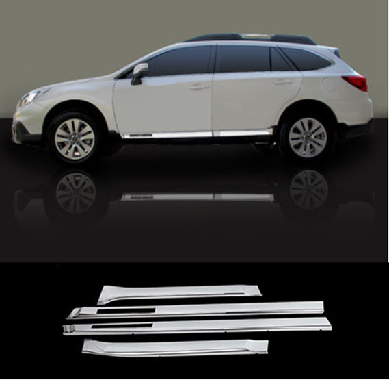 Accessories Fit For 2017 2016 Subaru Outback Chrome Side Door Line Garnish Body Molding Trim Cover On Aliexpress Alibaba Group