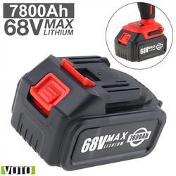 Универсальный аккумулятор VOTO 68V Max 7800mAh литий-ионная аккумуляторная батарея с плоским нажимным типом и 2 слотами для ударного электрического...