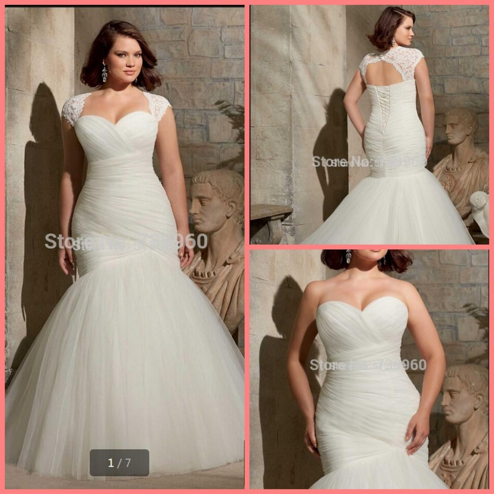 Buy cheap pleated bridal gown with lace for Wedding dress discount warehouse