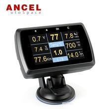 Ancel A501 Car OBD Gauge HUD Digital Display Driving Computer Speed Meter Fuel Water Coolant temperature Alarm Scan Tool Scanner