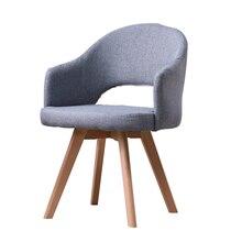 Стул со спинкой экономичного типа для отдыха из твердой древесины, скандинавский обеденный стул, современный минималистичный стол, стул, мебель для дома, спальни, имси стул