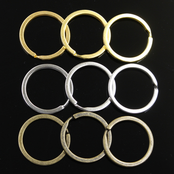 10pcs Key Ring Chain 3 Colors Gold Bronze Silver Color 30mm Round Split Metal Key Ring Chain DIY Keychain Keyrings Wholesale