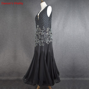 Image 4 - סלוניים ריקוד שמלת V צווארון חזרה פתיחת הצעה מיוחדת נשים לטיני ריקוד תלבושות סלסה סמבה טנגו תחרות תלבושות שמלה