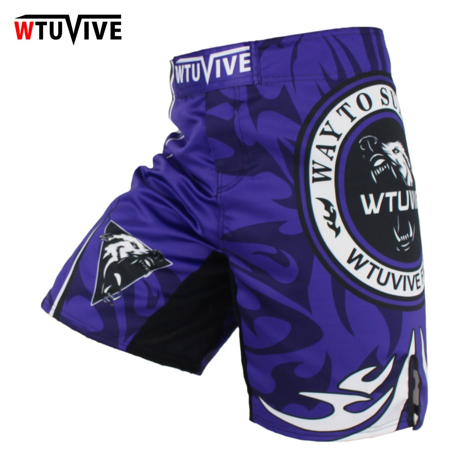 WTUVIVE MMA Men Boxing Wolves Boxing Boxing Shorts Contest Professional Training Trousers Boxing Shorts cheap mma