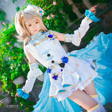 2017 Christmas Cosplay Love Live Minami Kotori School Idol Festival Awakening Cosplay Costume White Dress j g chen love live school idol festival kotori minami snowman ver 1 7 scale pvc painted figure collectible model toy 23cm