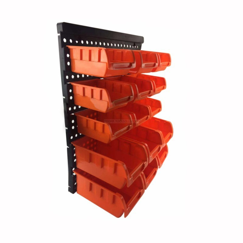 ABS Wall-Mounted Storage Box Tool Parts Garage Unit Shelving 7
