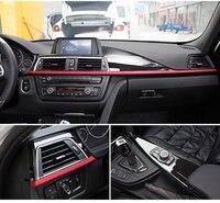Для BMW 3 4 серии f30 f34 GT 316i 320li 2013 2017 автомобиль аксессуар ABS центральной консоли украшения Панель крышка отделка набор из 3 шт.