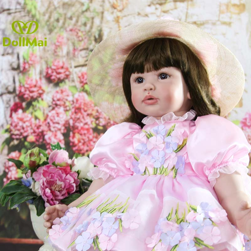 60cm High-end vinyl silicone reborn baby doll toy newborn girl babies princess doll birthday holiday gift bedtime play house toy60cm High-end vinyl silicone reborn baby doll toy newborn girl babies princess doll birthday holiday gift bedtime play house toy