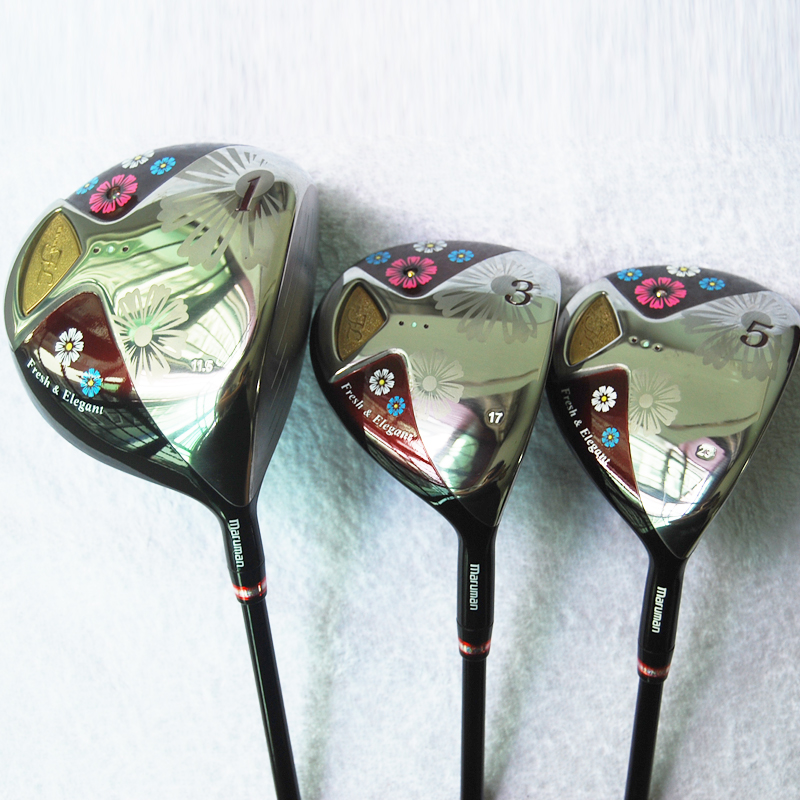 Cooyute New Women Golf clubs Maruman FL wood Complete Sets Golf driver and 2wood with Graphite Golf shaft Club free shipping mini golf club set golf ball sport abs golf club for children golf table with flag kids sport game toy nice best gift children