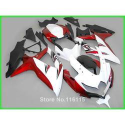 fairing kit fit for SUZUKI K8 K9 GSXR 600 750 2008 2009 2010 red white black GSXR600 GSXR750 08 09 10 fairings set XF96