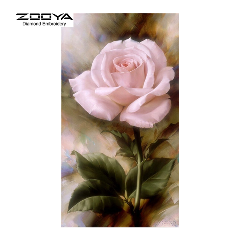 Diamond Painting Rose Flower Diamond Cross Stitch Square Diamond Sets Unfinished Full Diamond Embroidery Home Decoration AJ683